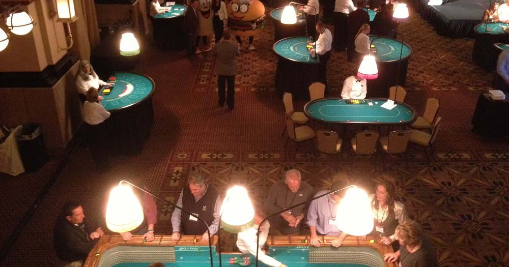 Casino Themed Party Reception at Union Station, Grand Hall, Indianapolis, Indiana